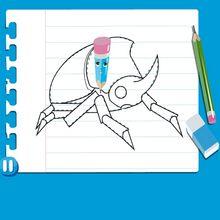 Dessiner un scarabée