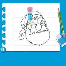 Leçon de dessin : Dessiner le père Noël