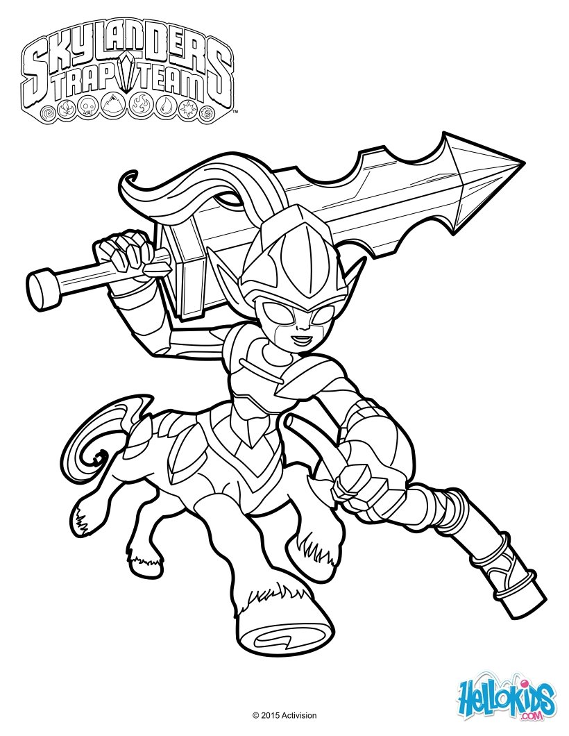 Coloriages knight mare for Skylanders imaginators coloring pages