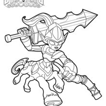 Coloriage Skylanders : Knight Mare
