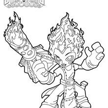 Coloriage Skylanders : Torch