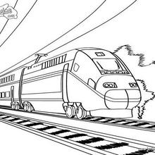 Coloriage d'un train à grande vitesse