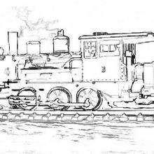 Coloriage d'une locomotive à vapeur