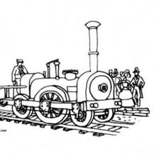 Coloriage d'une locomotive