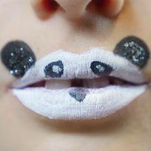 Maquillage des lèvres: Le Panda