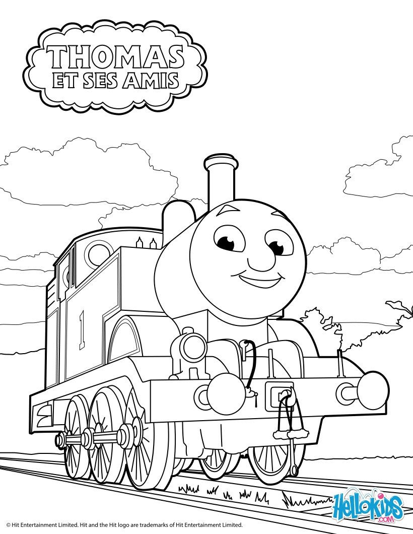 Coloriages thomas le petit train - Thomas le petit train coloriage ...