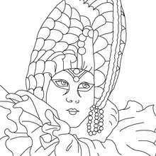 Masque perlé Carnaval Venise à colorier