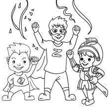 Coloriage : Super héros costume à colorier