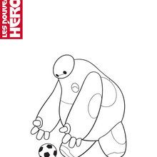 Coloriage Disney : Baymax attrape un ballon