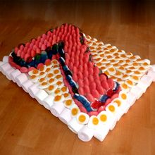 Le gâteau aux bonbons