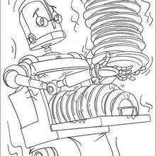 Coloriage du robot lave-vaisselle