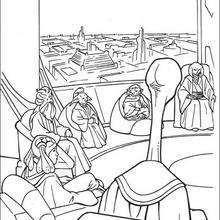 Coloriage STAR WARS du conseil des Jedi