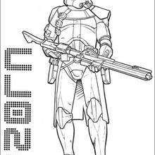 Coloriage STAR WARS du Commandant Clone