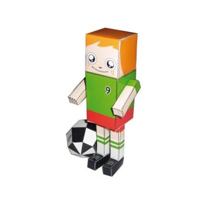 PaperToy d'un footballeur (moyen)