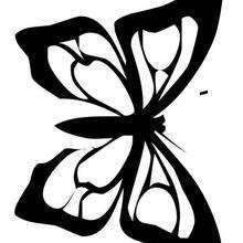 Coloriage d'un papillon N°23
