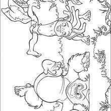 Coloriage Disney : Tok et Tarzan s'amusent