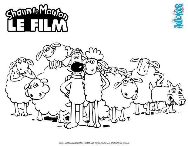 Coloriages shaun et ses amis - Photo de mouton a imprimer ...