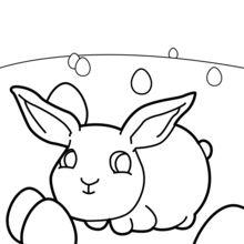 Coloriage : Bébé lapin de Pâques