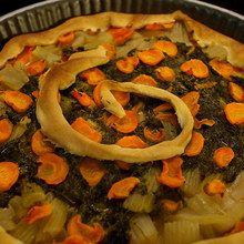 Recette : La tarte aux trois légumes