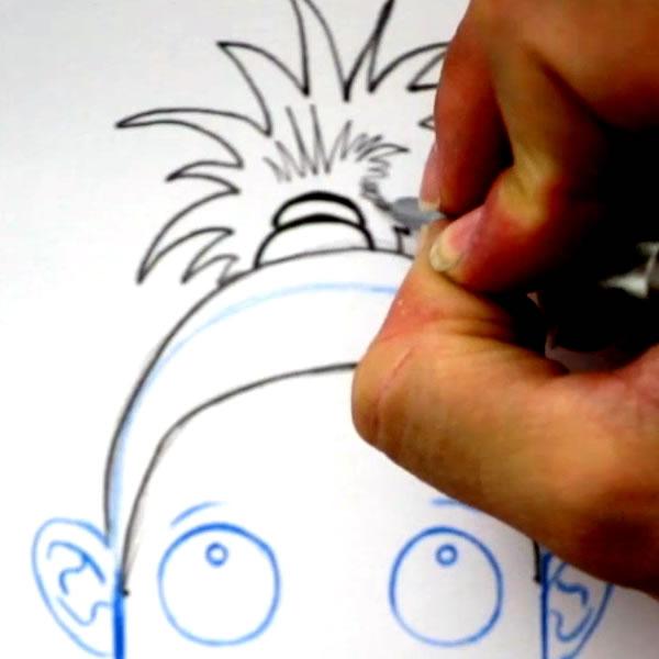 dessiner une coiffure