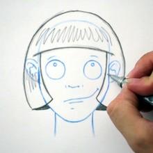 Dessiner une coiffure : Le carré