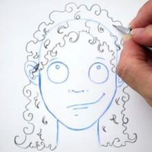 Dessiner une coiffure : Les boucles