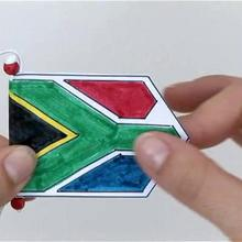 Vidéo de bricolage : Fanion Afrique du Sud