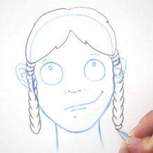 Dessiner une coiffure : Les nattes