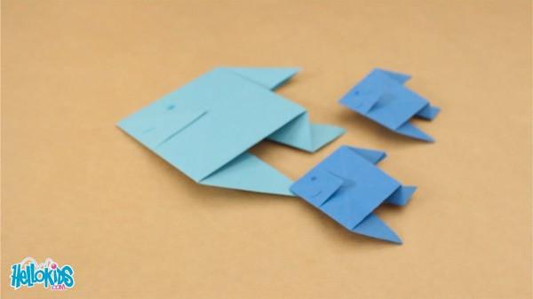 activit s manuelles le poisson origami. Black Bedroom Furniture Sets. Home Design Ideas