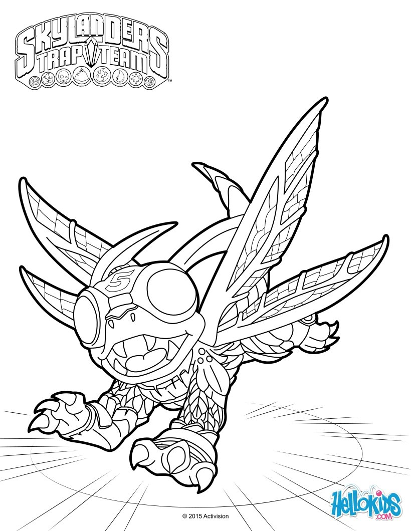 funnybone skylander coloring pages - photo#12