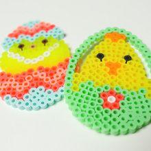 Oeufs de Pâques en perles à repasser