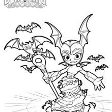 Coloriage Skylanders : Bat Spin