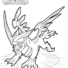 Coloriage Skylanders : Blackout