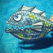 Fiche bricolage : Les poissons féroces