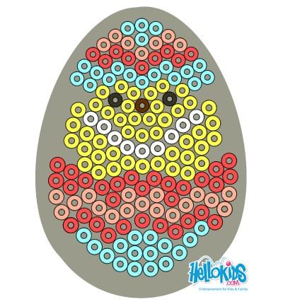 Activité : Oeufs de Pâques en perles à repasser