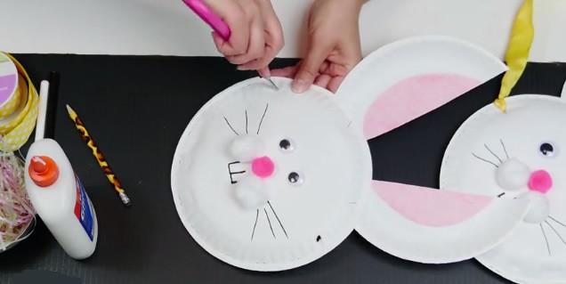Activité : Panier lapin de Pâques