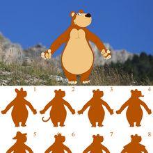 Jeu des ombres de l'ours brun des Pyrénées