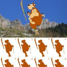 Jeu des ombres : l'ours brun fait du ski