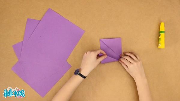 Activités Manuelles La Fleur Origami Frhellokidscom