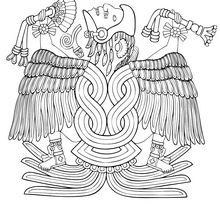 Coloriage : Huitzilopochtli