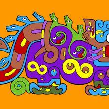 Coloriages sur les civilisations précolombiennes