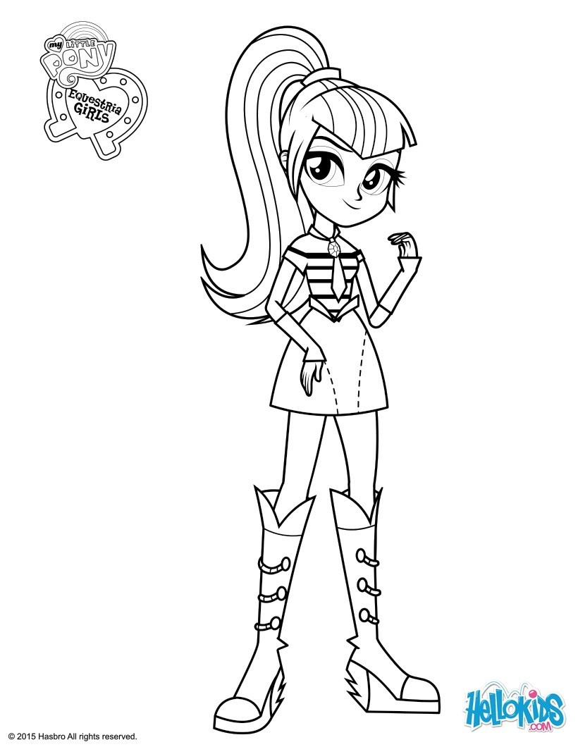 mlp eg coloring pages - coloriages sonata dusk