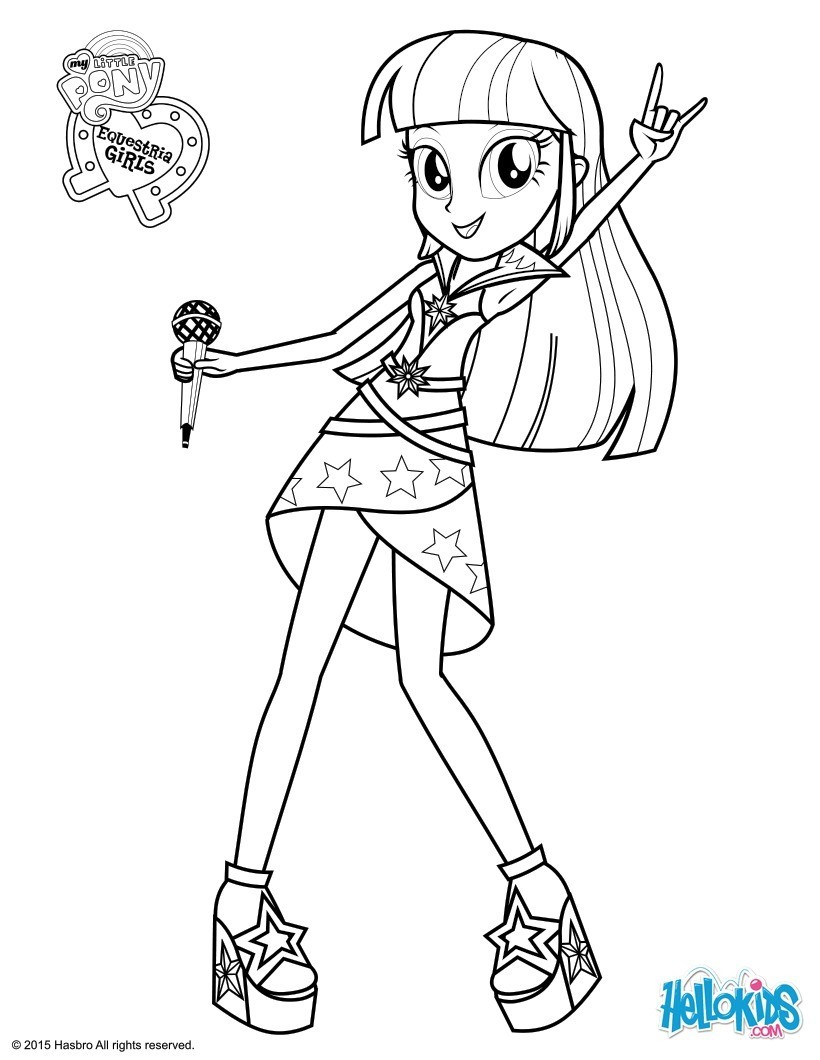 My Little Pony Adagio Dazzle Coloring Pages : Coloriages twilight sparkle à colorier fr hellokids