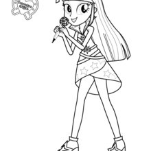 Coloriage : Twilight Sparkle de Equestria Girls
