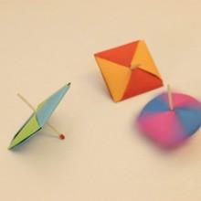 Origami : Fabriquer une toupie