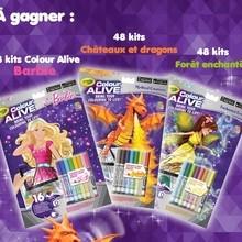 Gagne des kits CRAYOLA Colour Alive !