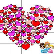 Puzzle Coeurs de saint valentin