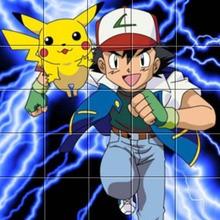 Puzzle Pikachu et Sacha