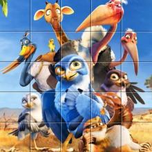 Puzzle : Les personnages du film Drôles d'oiseaux