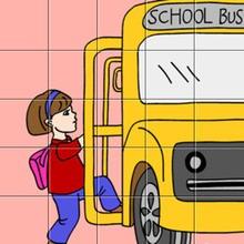 Puzzle : Le bus de l'école